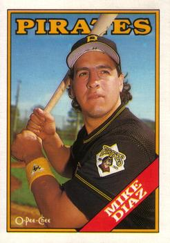 1988 O-Pee-Chee Baseball Cards 239     Mike Diaz
