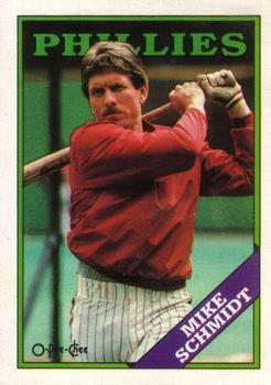 1988 O-Pee-Chee Baseball Cards 321     Mike Schmidt