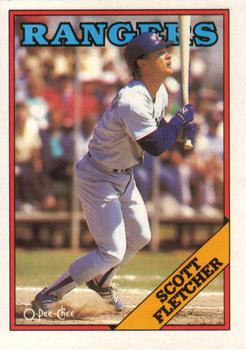 1988 O-Pee-Chee Baseball Cards 345     Scott Fletcher