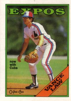 1988 O-Pee-Chee Baseball Cards 346     Vance Law#{Now with Cubs