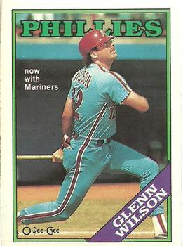 1988 O-Pee-Chee Baseball Cards 359     Glenn Wilson#{Now with Mariners