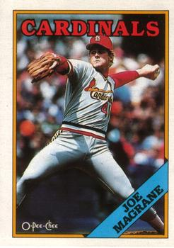 1988 O-Pee-Chee Baseball Cards 380     Joe Magrane