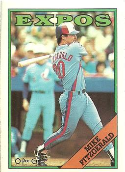 1988 O-Pee-Chee Baseball Cards 386     Mike Fitzgerald