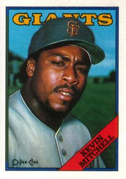 1988 O-Pee-Chee Baseball Cards 387     Kevin Mitchell