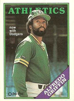 1988 O-Pee-Chee Baseball Cards 042      Alfredo Griffin#{Now with Dodgers