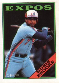 1988 O-Pee-Chee Baseball Cards 050      Hubie Brooks