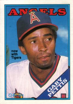 1988 O-Pee-Chee Baseball Cards 071      Gary Pettis#{Now with Tigers