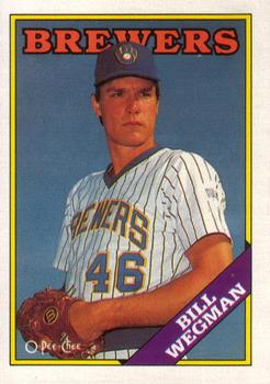 1988 O-Pee-Chee Baseball Cards 084      Bill Wegman