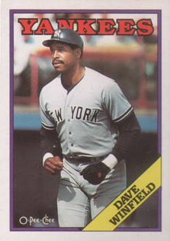 1988 O-Pee-Chee Baseball Cards 089      Dave Winfield