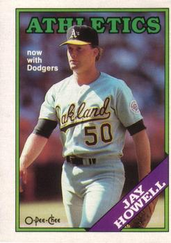 1988 O-Pee-Chee Baseball Cards 091      Jay Howell#{Now with Dodgers