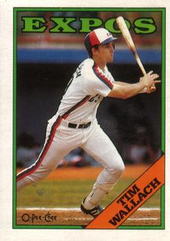 1988 O-Pee-Chee Baseball Cards 094      Tim Wallach