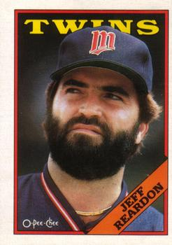 1988 O-Pee-Chee Baseball Cards 099      Jeff Reardon