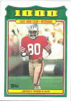 1988 Topps 1000 Yard Club Football Cards