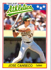 1988 Topps UK Minis     010      Jose Canseco
