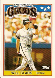 1988 Topps UK Minis     014      Will Clark