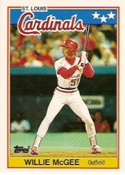 1988 Topps UK Minis     046      Willie McGee