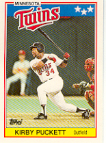 1988 Topps UK Minis     057      Kirby Puckett