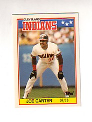 1988 Topps UK Minis Tiffany     012      Joe Carter