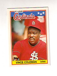 1988 Topps UK Minis Tiffany     016      Vince Coleman