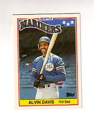 1988 Topps UK Minis Tiffany     017      Alvin Davis
