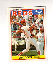 1988 Topps UK Minis Tiffany     018      Eric Davis