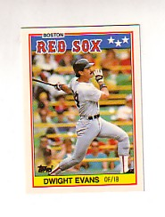 1988 Topps UK Minis Tiffany     022      Dwight Evans