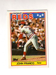1988 Topps UK Minis Tiffany     024      John Franco