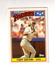 1988 Topps UK Minis Tiffany     029      Tony Gwynn