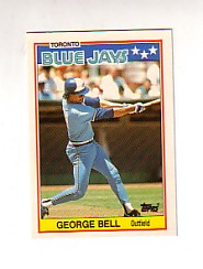 1988 Topps UK Minis Tiffany     003      George Bell