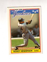 1988 Topps UK Minis Tiffany     031      Rickey Henderson