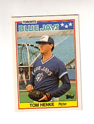 1988 Topps UK Minis Tiffany     032      Tom Henke