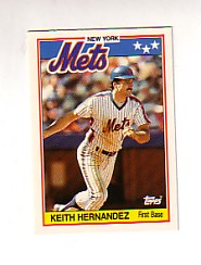 1988 Topps UK Minis Tiffany     033      Keith Hernandez
