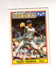 1988 Topps UK Minis Tiffany     035      Teddy Higuera