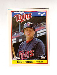 1988 Topps UK Minis Tiffany     037      Kent Hrbek