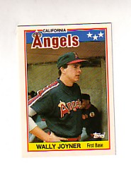 1988 Topps UK Minis Tiffany     040      Wally Joyner