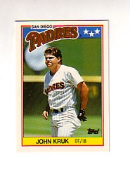 1988 Topps UK Minis Tiffany     041      John Kruk
