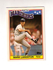 1988 Topps UK Minis Tiffany     042      Mark Langston
