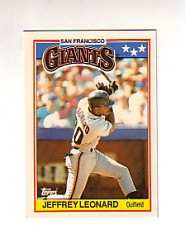 1988 Topps UK Minis Tiffany     043      Jeffrey Leonard