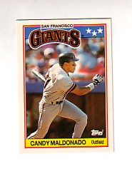 1988 Topps UK Minis Tiffany     044      Candy Maldonado