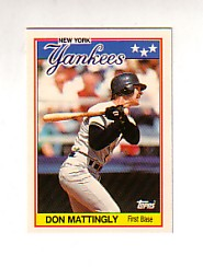 1988 Topps UK Minis Tiffany     045      Don Mattingly