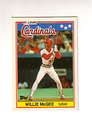 1988 Topps UK Minis Tiffany     046      Willie McGee