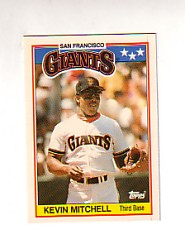 1988 Topps UK Minis Tiffany     048      Kevin Mitchell