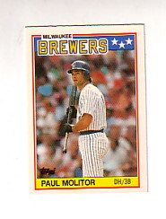 1988 Topps UK Minis Tiffany     049      Paul Molitor