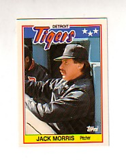 1988 Topps UK Minis Tiffany     050      Jack Morris
