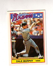 1988 Topps UK Minis Tiffany     052      Dale Murphy