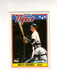 1988 Topps UK Minis Tiffany     054      Matt Nokes
