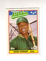 1988 Topps UK Minis Tiffany     055      Dave Parker