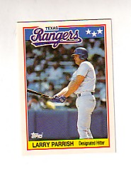 1988 Topps UK Minis Tiffany     056      Larry Parrish