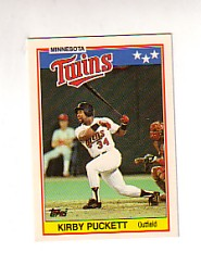 1988 Topps UK Minis Tiffany     057      Kirby Puckett
