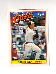1988 Topps UK Minis Tiffany     061      Cal Ripken
